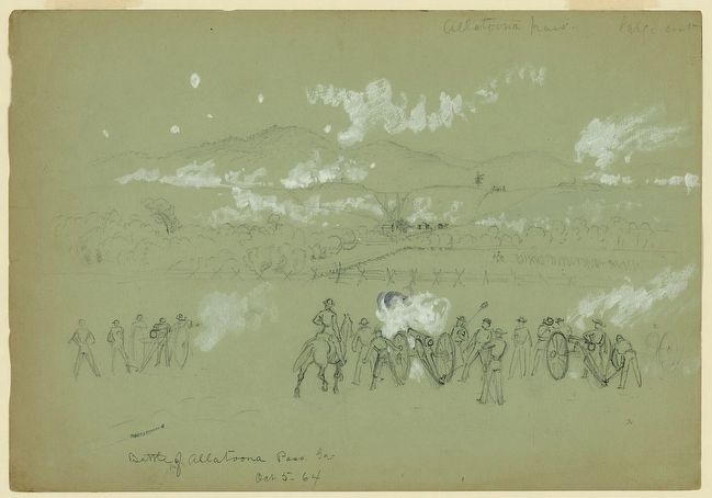 Battle of Allatoona Pass, Ga. Oct 5-64 image. Click for full size.