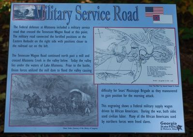 Military Service Road Marker image. Click for full size.