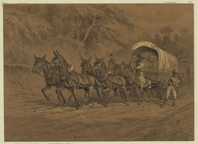 The Supply Train- Edwin Forbes image. Click for full size.