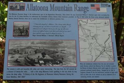 The Allatoona Mountain Range Marker image. Click for full size.