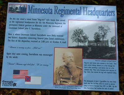 4th Minnesota Regimental Headquarters Marker image. Click for full size.