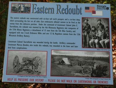 The Eastern Redoubt Marker image. Click for full size.