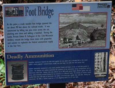The Foot Bridge Marker image. Click for full size.