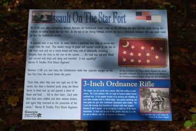 Assault On The Star Fort Marker image. Click for full size.