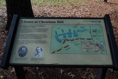 Climax at Cheatham Hill Marker image. Click for full size.