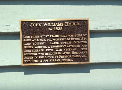 John Williams House Marker image. Click for full size.