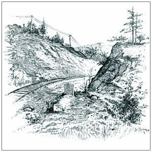 The Soldier's Grave on the Western & Atlantic Rail Road in Allatoona Pass. image. Click for full size.
