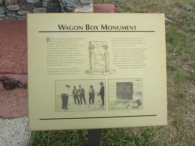Wagon Box Monument Marker image. Click for full size.