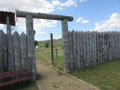 Main Gate at Fort Phil Kearny image. Click for full size.