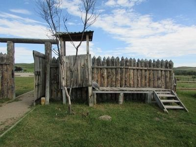 Guard Stand, Artillery Bastion and Stockade at Ft. Phil Kearny image. Click for full size.