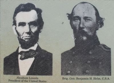 Lincoln & Brigadier General Benjamin H. Helm, C.S.A image. Click for full size.