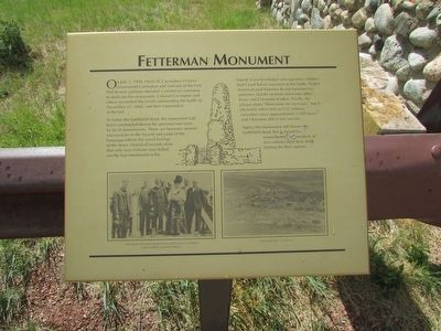 Fetterman Monument	 Marker image. Click for full size.