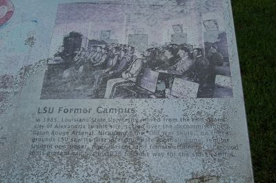 LSU Former Campus Marker image. Click for full size.