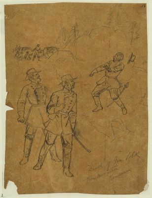 Death of Gen. Polk Pine Mountain, Kennesaw image. Click for full size.