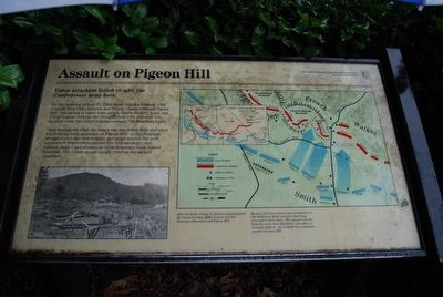Assault on Pigeon Hill Marker image. Click for full size.