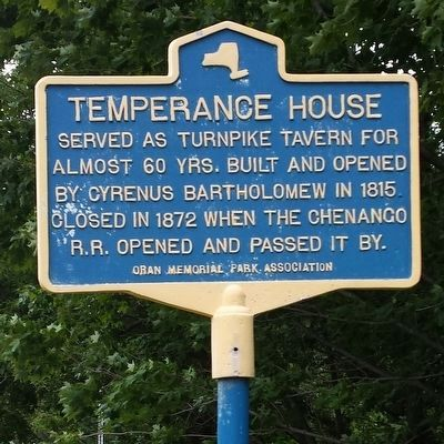 Temperance House Marker image. Click for full size.