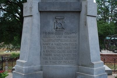 U.D.C. Confederate Soldiers Monument (left) image. Click for full size.