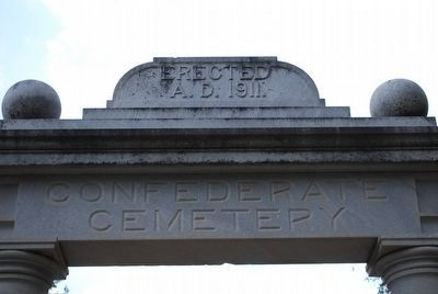 Confederate Cemetery Arch image. Click for full size.