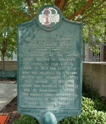 St. Vincent's Academy/Catholic High School Marker image. Click for full size.