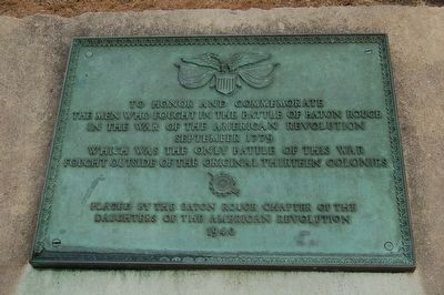 1779 Battle Of Baton Rouge Memorial image. Click for full size.