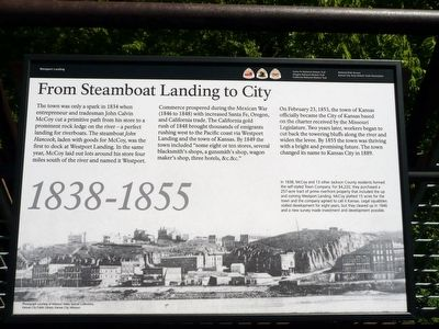 From Steamboat Landing to City Marker image. Click for full size.
