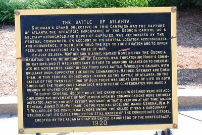 The Battle of Atlanta Marker image. Click for full size.