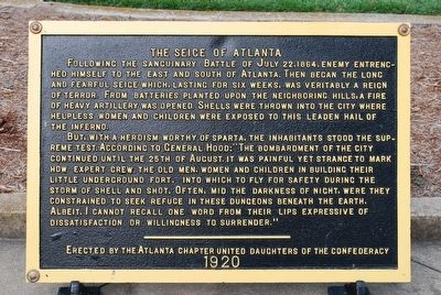 The Seige of Atlanta Marker image. Click for full size.