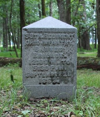 99th Ohio Infantry Marker image. Click for full size.