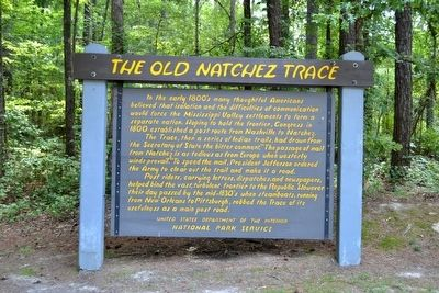 The Old Natchez Trace Marker image. Click for full size.