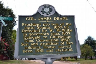 Col. James Drane Marker image. Click for full size.