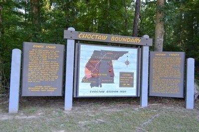Choctaw Boundary Marker image. Click for full size.