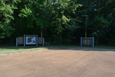 Southern Pines and Choctaw Boundary Markers image. Click for full size.