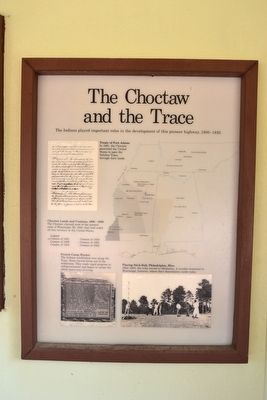 The Choctaw and the Trace Marker image. Click for full size.