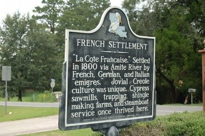 French Settlement Marker image. Click for full size.