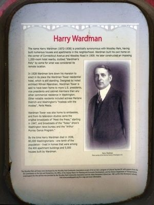 Harry Wardman Marker image. Click for full size.