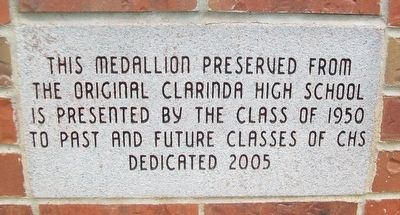 Original Clarinda High School Marker image. Click for full size.