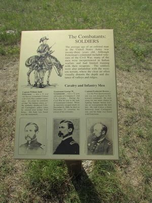 The Combatants: Soldiers Marker image. Click for full size.