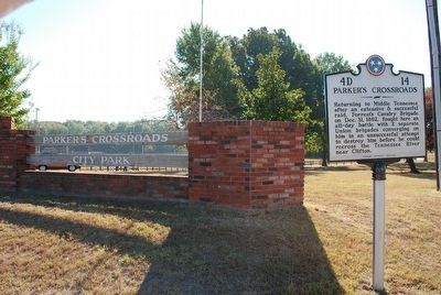 Parker's Crossroads Marker image. Click for full size.
