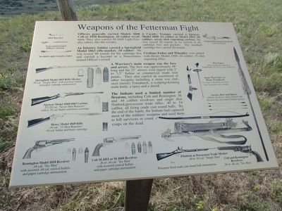 Weapons of the Fetterman Fight Marker image. Click for full size.