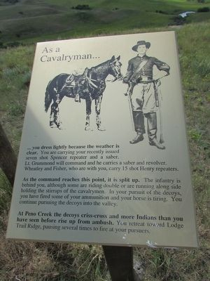 As a Cavalryman . . . Marker image. Click for full size.