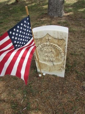 Capt. William Fetterman's Grave at Custer Nat'l Cemetery image. Click for full size.