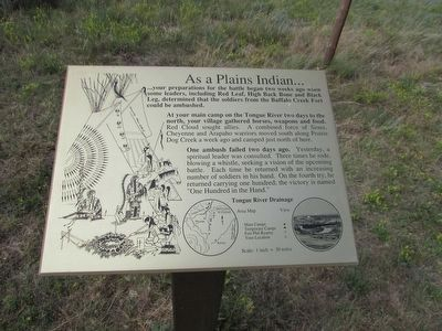 As a Plains Indian . . . Marker image. Click for full size.