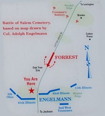 Battle of Salem Cemetery Marker Map image. Click for full size.