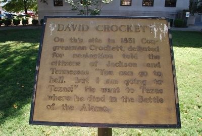David Crockett Marker image. Click for full size.