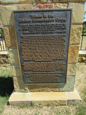 Tribute to the Civilian Conservation Corps Marker image. Click for full size.
