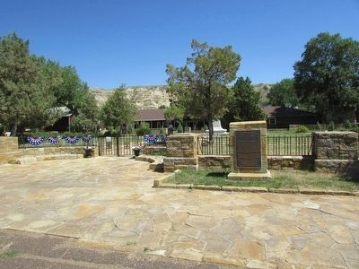 Marker in Medora image. Click for full size.