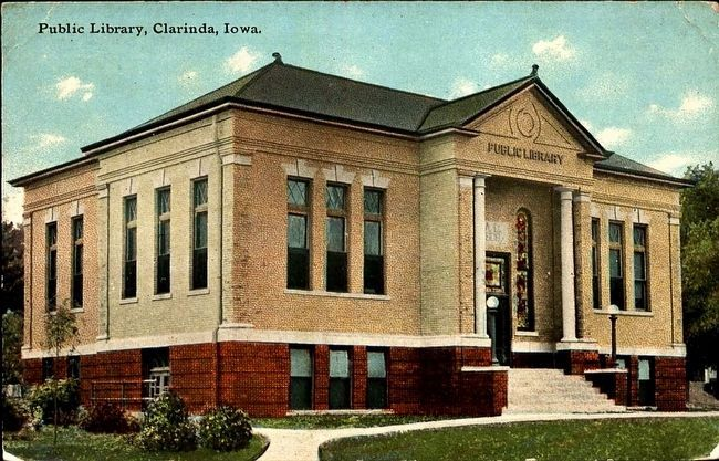 <i>Public Library, Clarinda, Iowa</i> image. Click for full size.