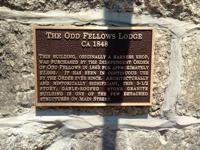 Odd Fellows Lodge Marker image. Click for full size.