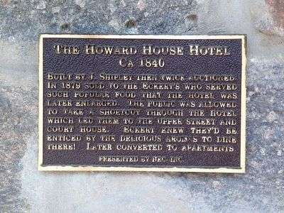 The Howard House Hotel Marker image. Click for full size.