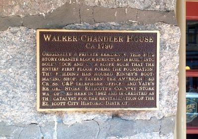 Walker-Chandler House Marker image. Click for full size.